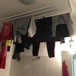 plafonddroogrek 7 stangen in een badkamer
