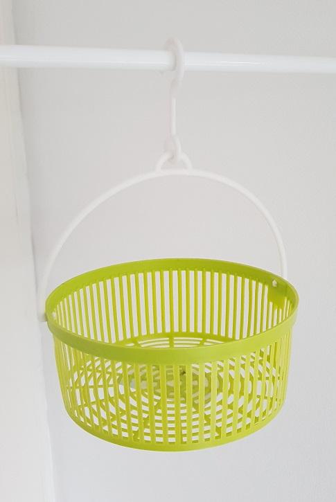 Mandje voor wasknijpers groen